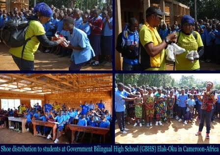 Donations go to Government Bilingual High School in Cameroon Africa